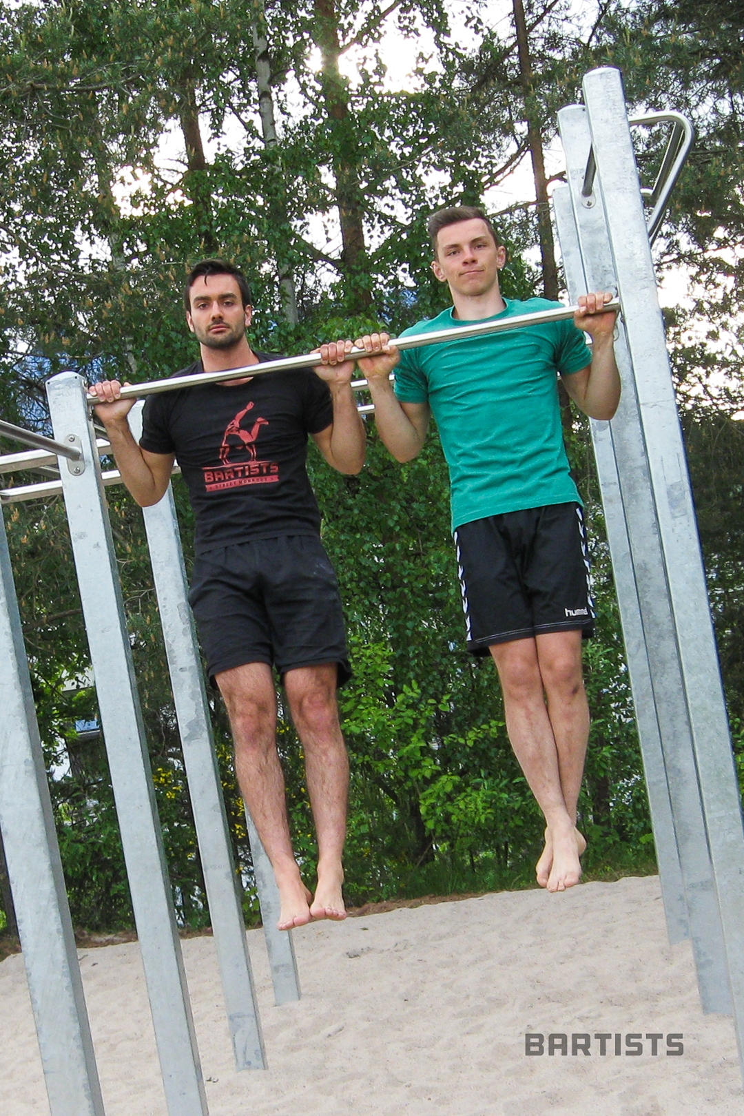 Sebastian & Luca at the new Workout Park in Kaiserslautern