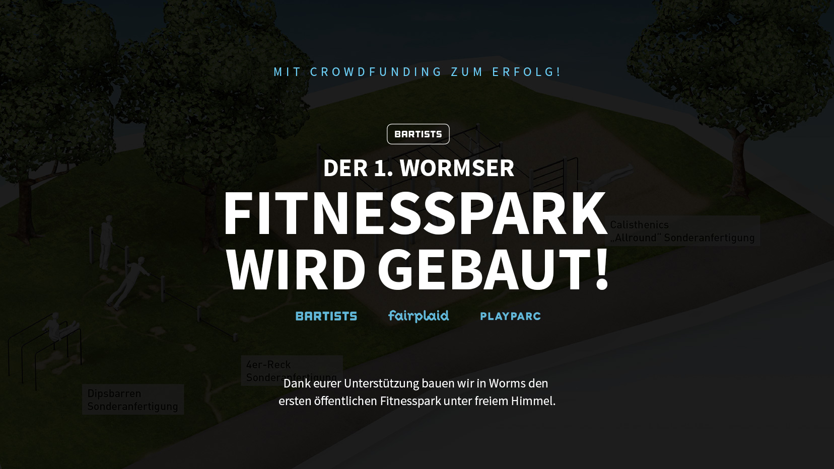 Der 1. Wormser Fitnesspark wird gebaut